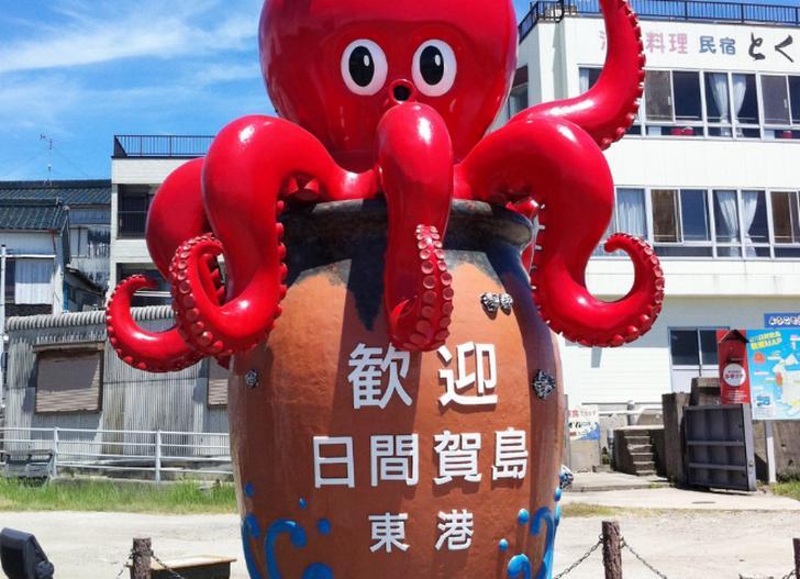 日間賀島東港で『青空レストラン』撮影ロケ