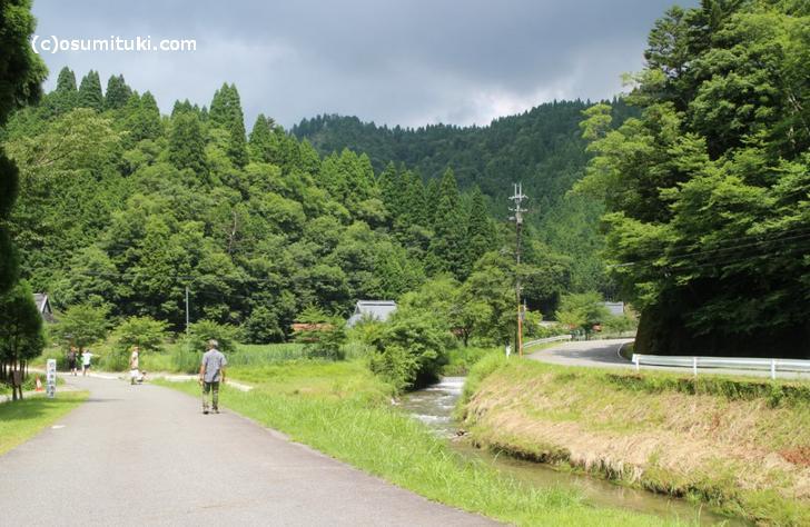 桂川の源流域で景色もきれいです