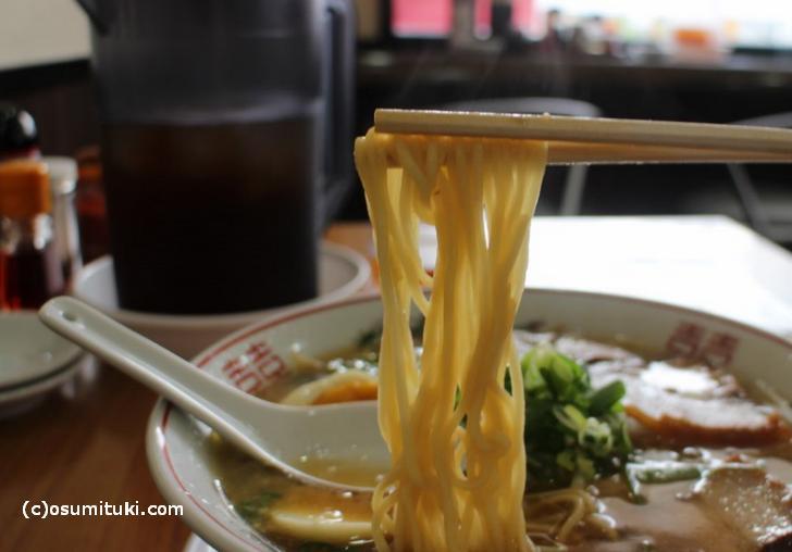 京都ラーメンでよく使う中太ストレート麺