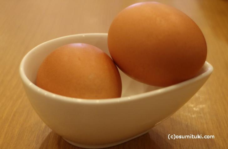 大きな卵でいただきます!