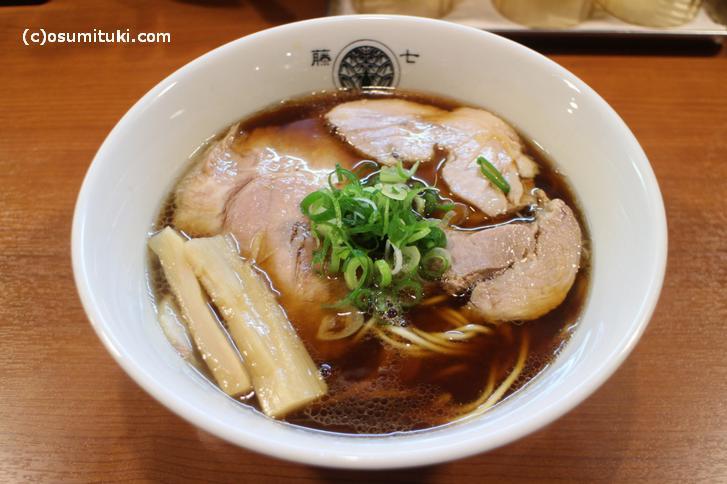 京都ネオアキラ系豚清湯醤油らぁ麺 800円