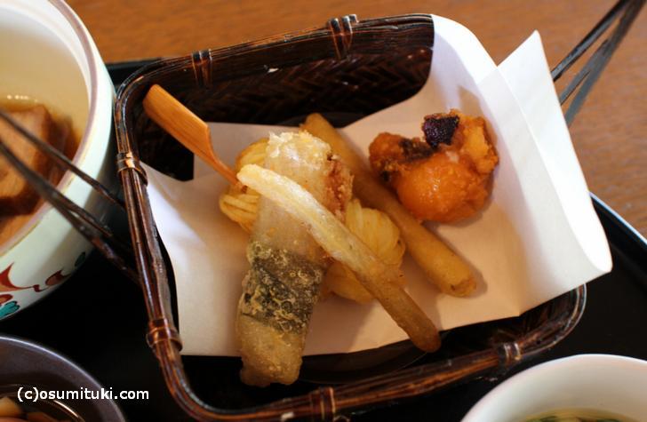 お野菜とエビの天ぷら
