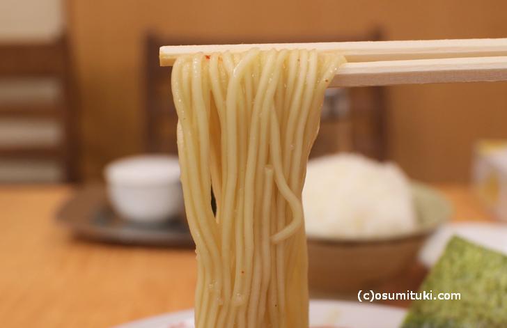 京都ラーメンは細麺?いえいえ中細ストレート麺です