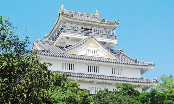 金華山山頂の「岐阜城」