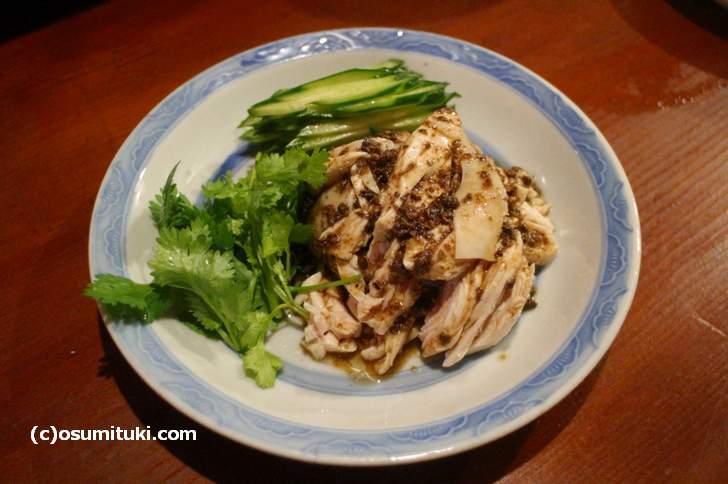 蒸し鶏(山椒ソース)700円