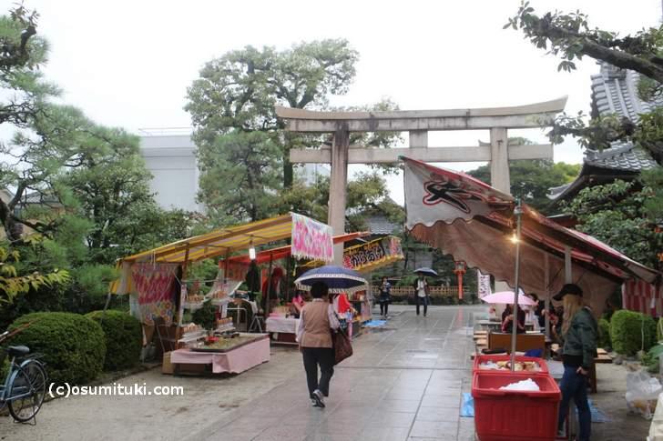西院春日神社「春日祭」時の境内の様子