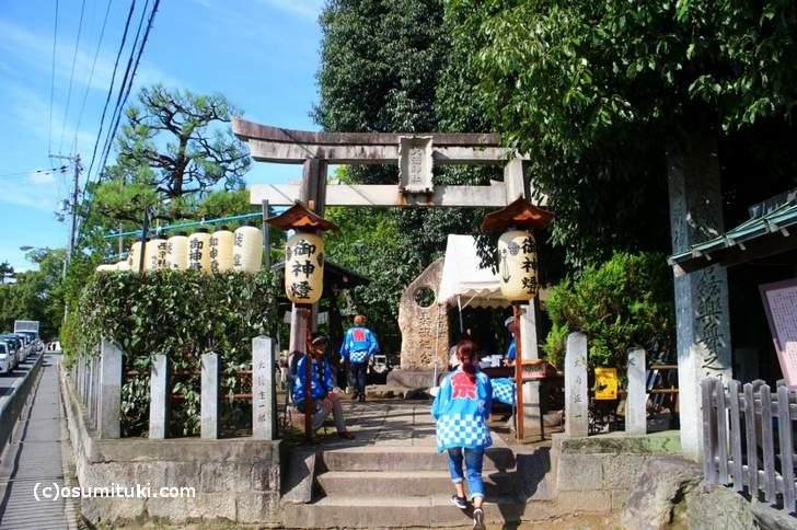 大酒神社 秋祭 境内の様子