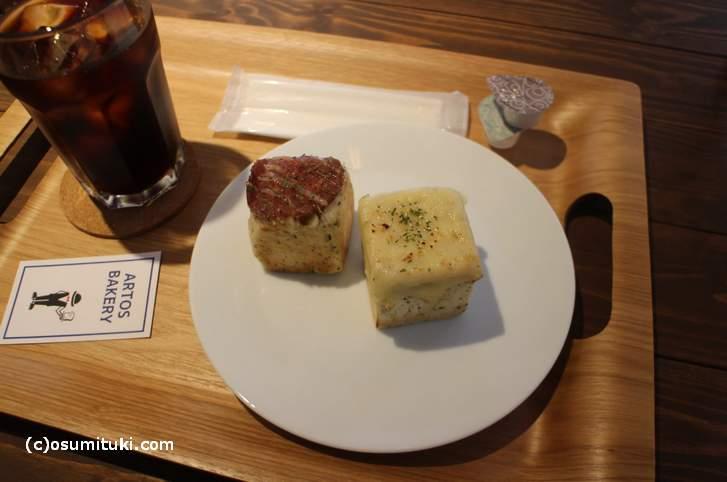 チーズとサラミで香辛料が効いたものでした