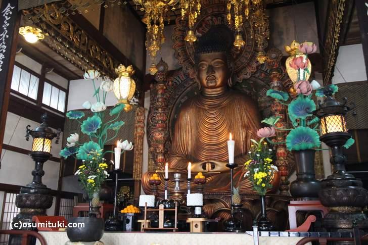 京都で一番大きい阿弥陀様「御室大仏」