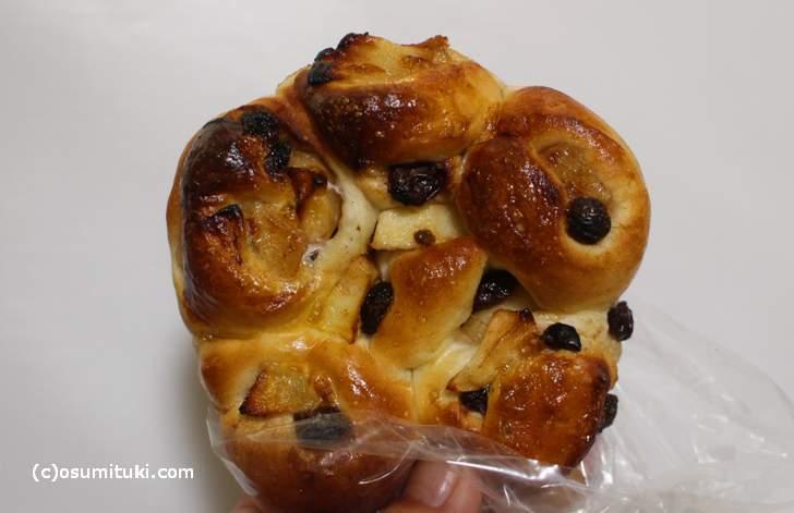 アップルレーズンのパン
