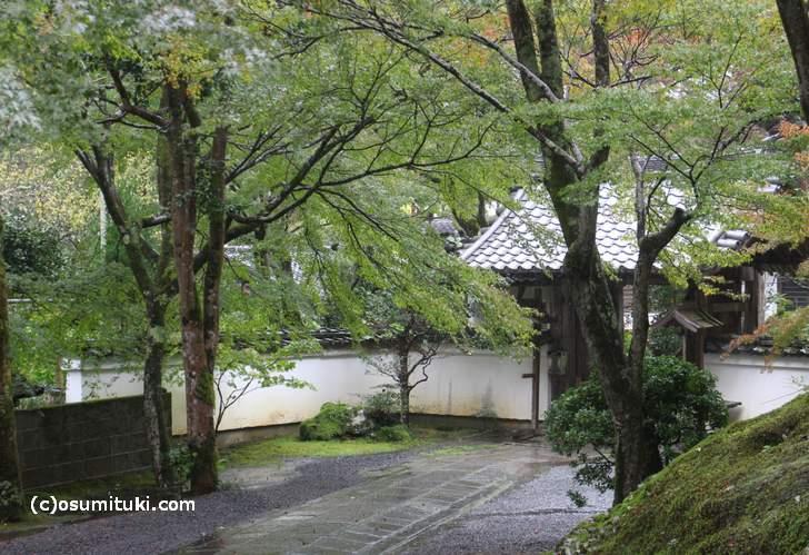 2017年10月29日の京都は「台風22号の影響」で観光客も少なく閑散としています