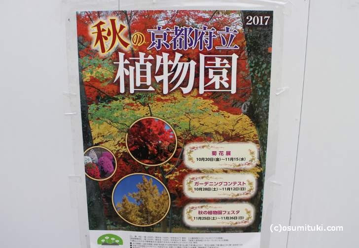 秋の京都府立植物園のイベント案内