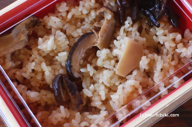 松茸ご飯 1000円でした
