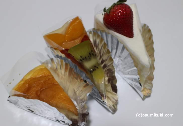苺ショートケーキ、デリースフリュイ、チーズケー
