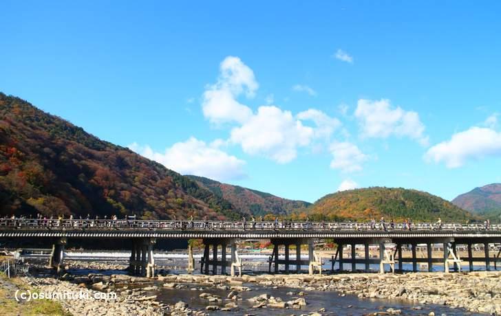 嵐山「渡月橋」2017年11月25日撮影