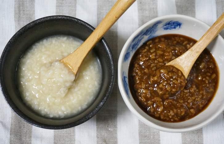 塩麹(左)と醤油麹(右)