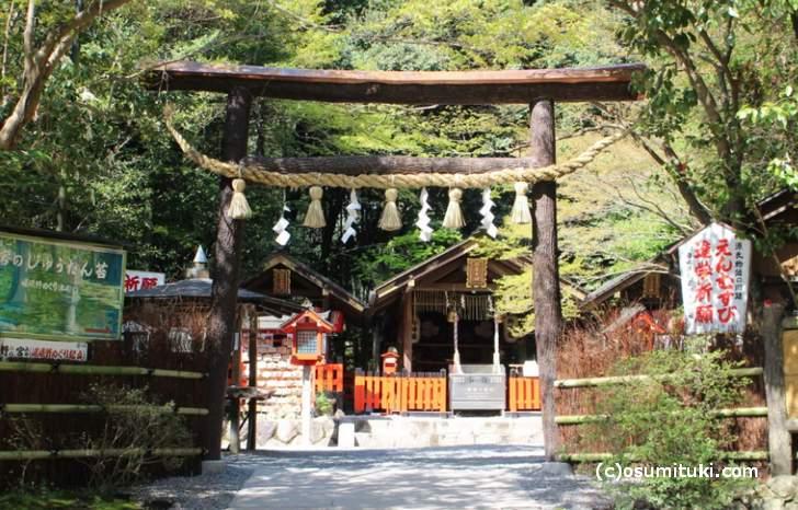 縁結びの神様とされる野宮神社