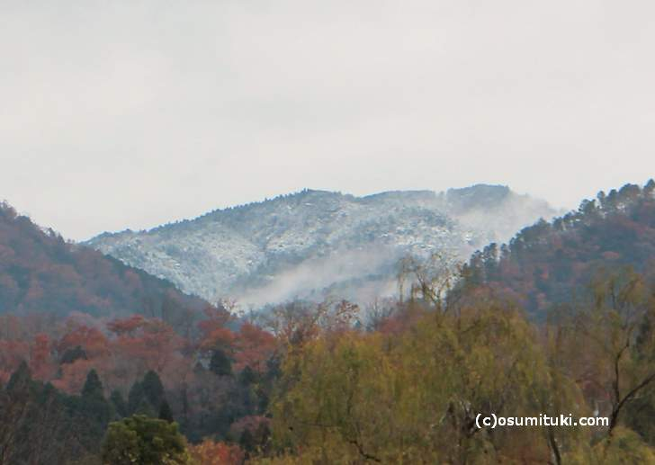 昨年の京都初雪(2017年12月9日)