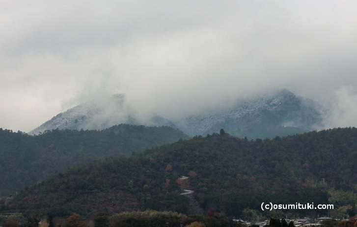 愛宕山の初雪(2017年12月9日)
