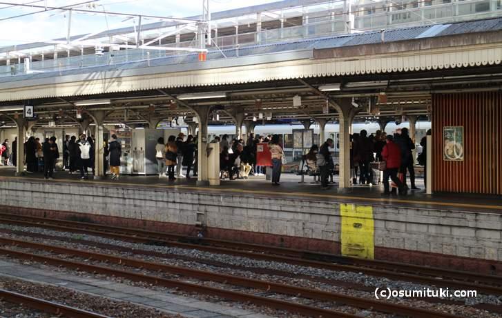 京都駅ホームにはポストがあります(どこにあるか分かりますか)