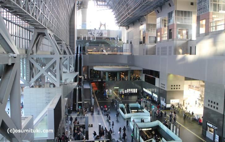 京都駅の大階段にあるエスカレーターで10階へ行くとあります