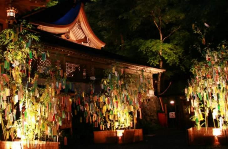 貴船神社「七夕笹飾りライトアップ」