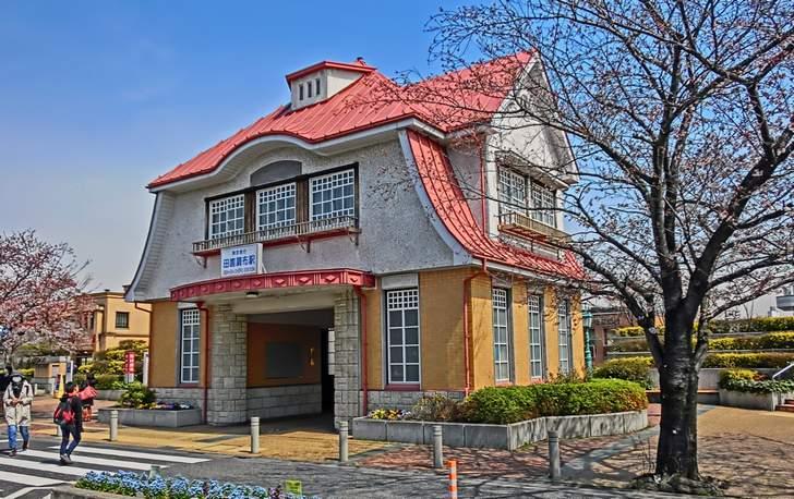 東京急行「田園調布駅」でタモリさんが2017年11月15日に撮影ロケ