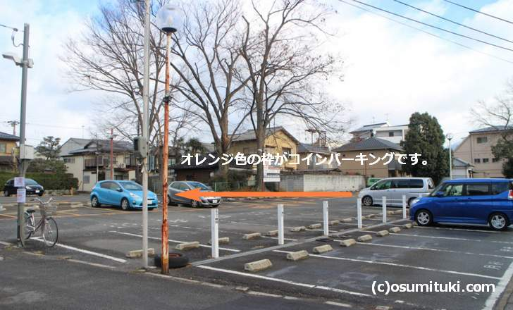 今宮神社の境内に提携駐車場があります