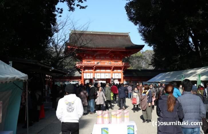 下鴨神社では、大晦日~元旦にかけていくつかの大祭が行われます