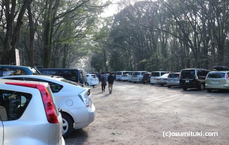 元旦正月は「糺の森」の周辺も駐車場になります