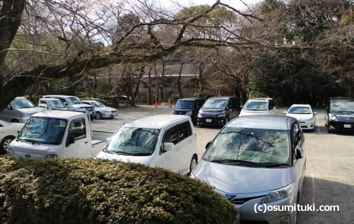 山上の駐車場