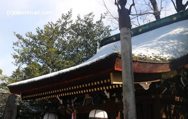 当日の京都は雪でした
