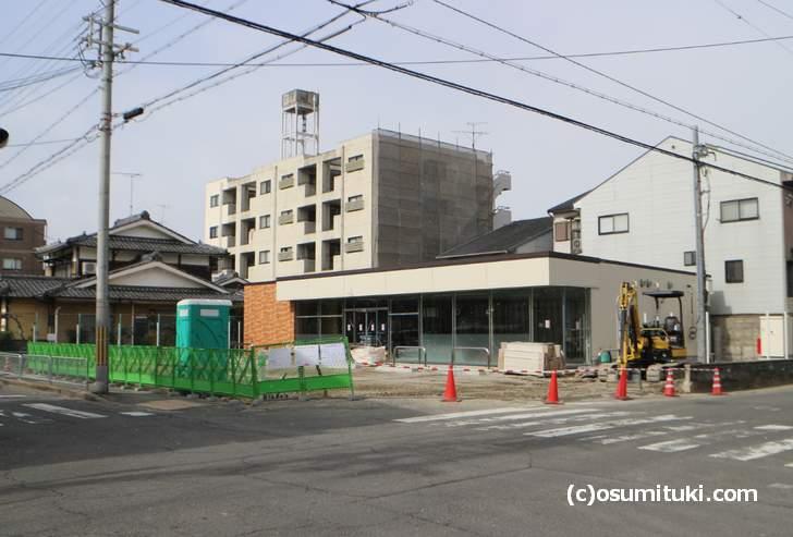 新しいセブンイレブンが建設中です(京都市右京区西京極午塚町)