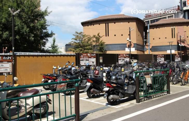 原付と自転車も「エコステーション21京阪四条」が近くにあります