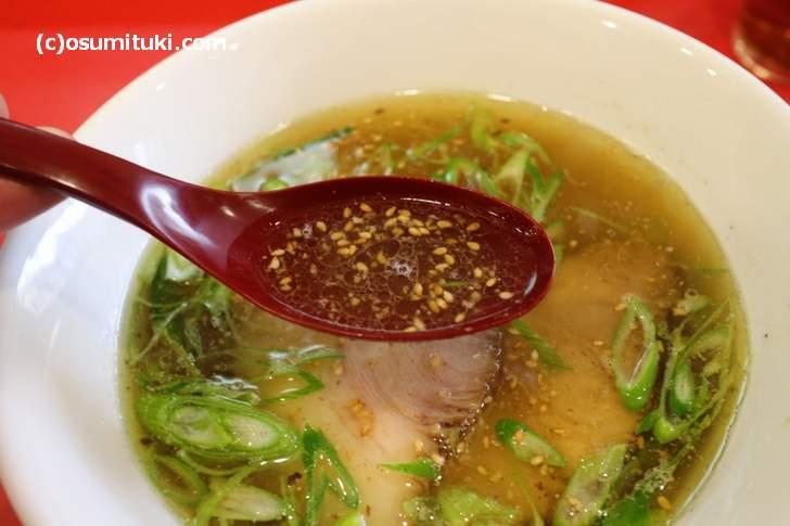 干しいたけの黄金スープに、ミネラル塩とアンデス塩を組み合わせた逸品です