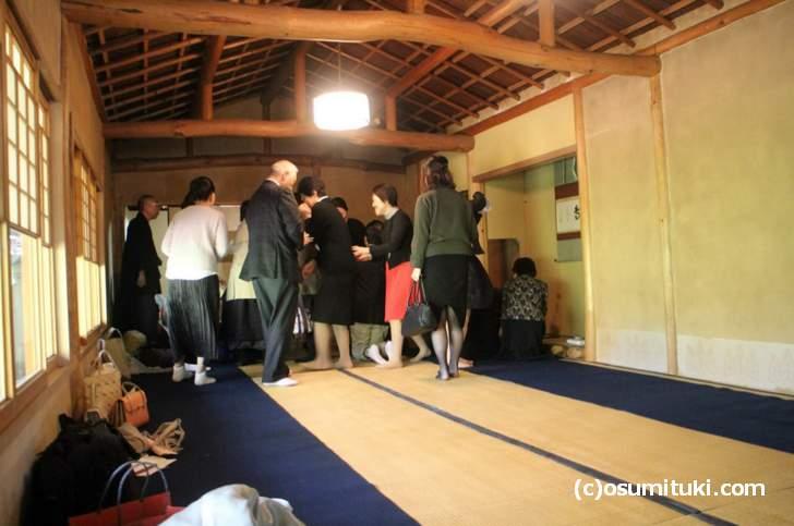 吉野太夫ゆかりの茶室を見学