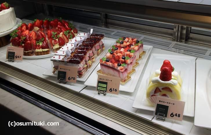 メゾン ド フルージュ の苺ケーキの値段は600円~1000円程度