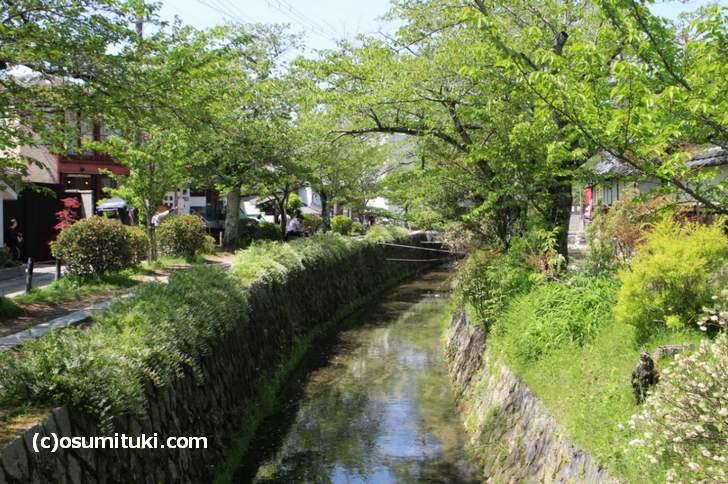 銀閣寺から歩いて琵琶湖疏水へ