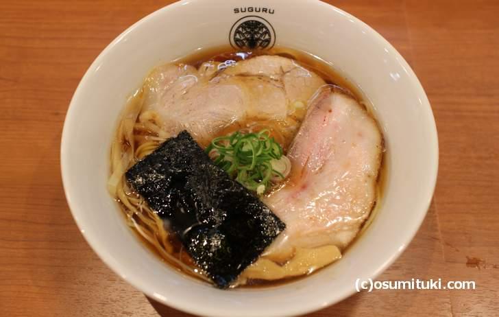 無化調をうたっている京都の有名ラーメン店のラーメン
