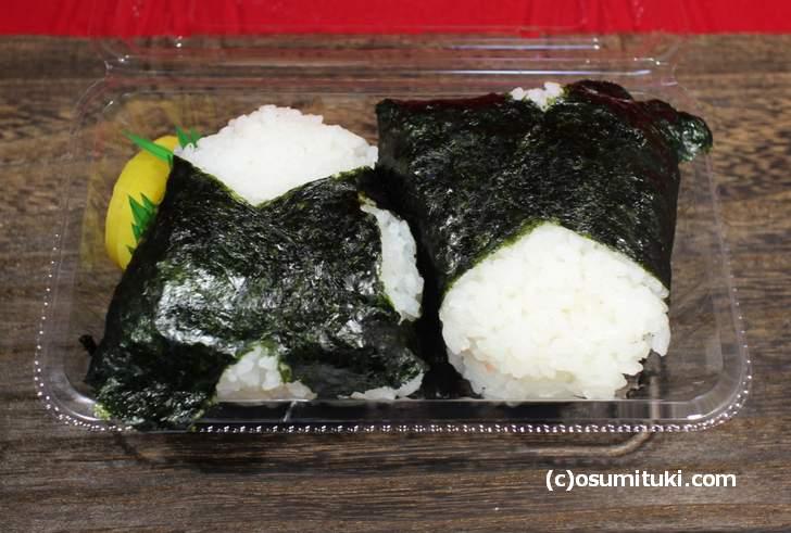 米の味わいという感じではなく「スッキリ」とした味のおにぎり