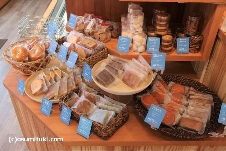 京都「茶山 sweets halle」さんでは多くの焼き菓子を販売しています