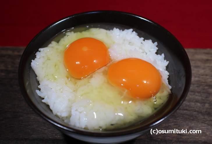 卵かけご飯にすると臭みもなく爽やかな卵の味を感じました