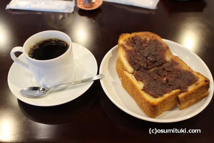 あんバタートーストとコーヒーで610円