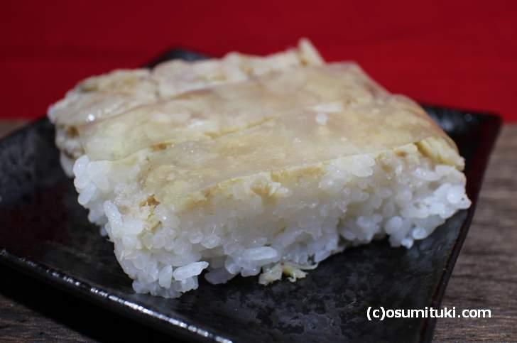 鯖の中落ちを使った激安「鯖寿司」