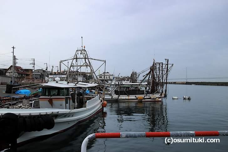 明石港、京都からは遠いので、食べるならぜひ本物の「明石ダコ」が食べたい