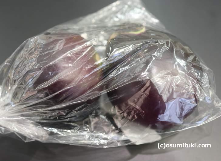 持って帰って来た「鳥飼茄子」実はある場所で販売されているのです
