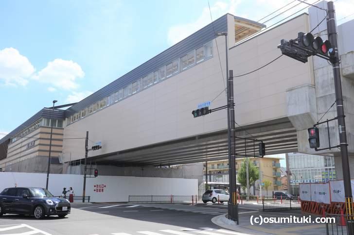 麺屋たけ井 阪急洛西口店、開店するのは阪急洛西口の高架下です