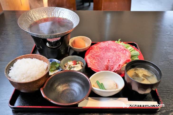 良質な牛肉がたっぷり入った「牛はりはり鍋」