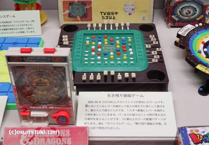 1973年タカトクトイスが販売した「生き残り頭脳ゲーム」