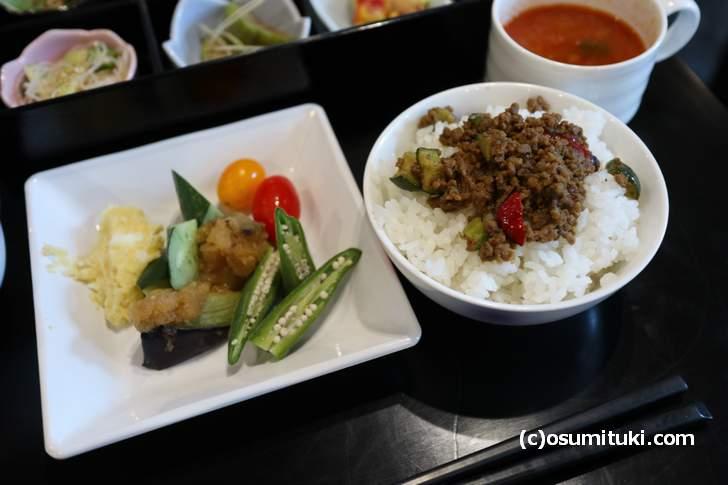 すべてに京北の京野菜が使われています